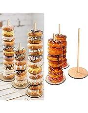 Astra Gourmet Wood Donut Stands - Set of 3 Donut Display Stands - Wedding Donut Bar Holder Dessert Bar Stand Wedding decor