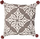 Surya Kate Spain KS003-2020P Synthetic Fill Pillow, 20 by 20-Inch, Light Gray