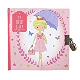 """Girls Secret Lock and Key Diary - Summer Stylish Girl - 80 Pages - Size 5.9"""" x 5.9"""""""