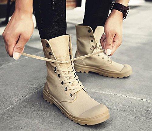 Morbido di Tela Tempo Scarpe Indossabile Suola Cachi Boots Comodo di Sport Adolescenti per Style Scarpe Gomma Scarpe Hellomiko Camminare Hip Street Libero Hop qwWx4PYEvP