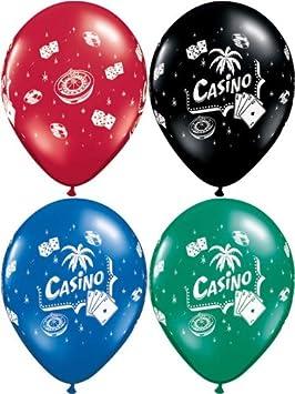 10 globos surtidos de casino para rouleta/dice/tarjetas ...