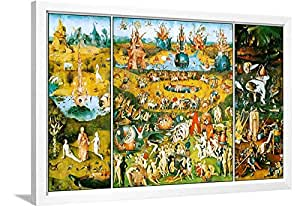 Artedge Hieronymus Bosch Garden Of Earthly Delights White Wall Art Framed Print