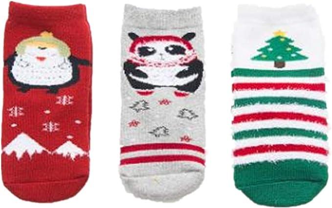 Autumn and winter children warm socks co28 baby Christmas cartoon cotton socks 3 pairs