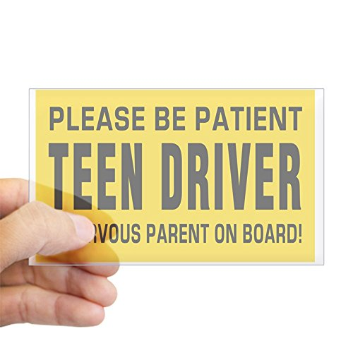 (CafePress Teen Driver and Parent On Board Big Magnet Sticker Rectangle Bumper Sticker Car Decal)