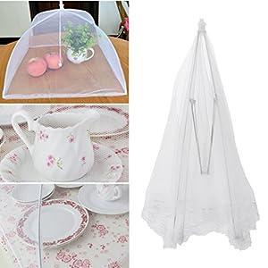 qiman la tenda di protezione pieghevole di ombrello di piatto di copertura di cibo di maglia gardent fuori degli Insetti… 1 spesavip