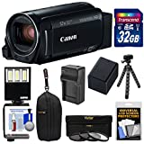Canon Vixia HF R80 16GB Wi-Fi 1080p HD Video Camera Camcorder with 32GB Card + Battery & Charger + Case + 3 Filters + LED Light + Tripod Kit