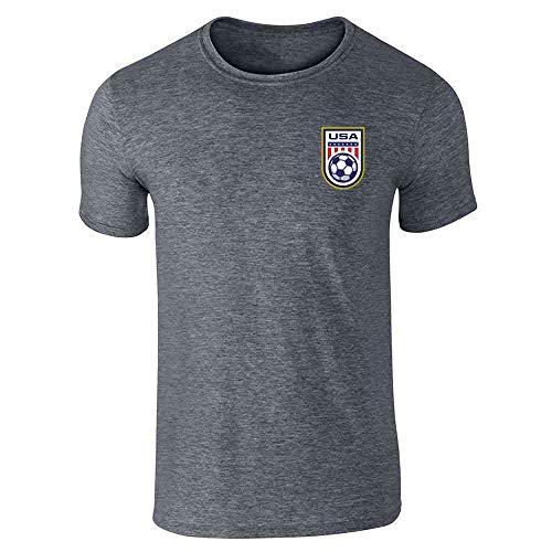 USA Soccer Retro National Team Jersey Dark Heather Gray L Short Sleeve T-Shirt