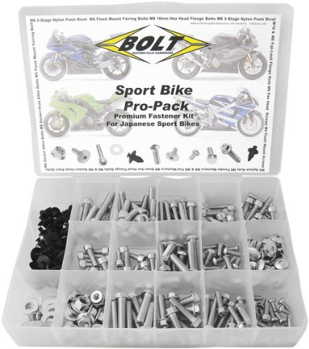 (Bolt MC Japanese Sportbike Pro-Pack Universal Factory Style Hardware Kit Steel)