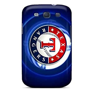Galaxy Case - Tpu Case Protective For Galaxy S3- Texas Rangers