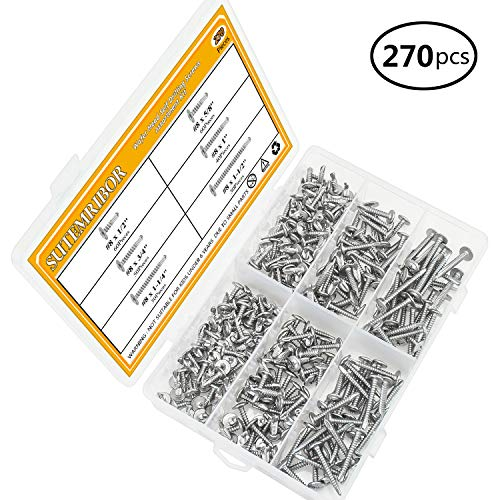 Sutemribor 410 Stainless Steel Self Drilling Screws Set (#8 Wafer Head) by Sutemribor (Image #1)