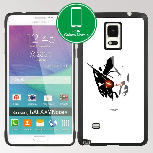 Gundam Manga Anime Robot Samsung Galaxy Note 4 IV TPU case (#5 Black)