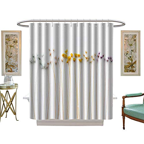 luvoluxhome Shower Curtains 3D Digital Printing Small Floral Wallpaper Background Custom Made Shower Curtain W48 x L84