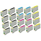 Elite Supplies ® Remanufactured Inkjet Cartridge Replacement for #60 T060 T0601, Epson T060120 T060220 T060320 T060420 Works Epson Stylus C68, Stylus C88, Stylus C88Plus, Stylus CX3800, Stylus CX3810, Stylus CX4200, Stylus CX4800, Stylus CX5800F, Stylus CX7800 (8 Black, 4 Cyan, 4 Magenta, 4 Yellow) by Elite Supplies