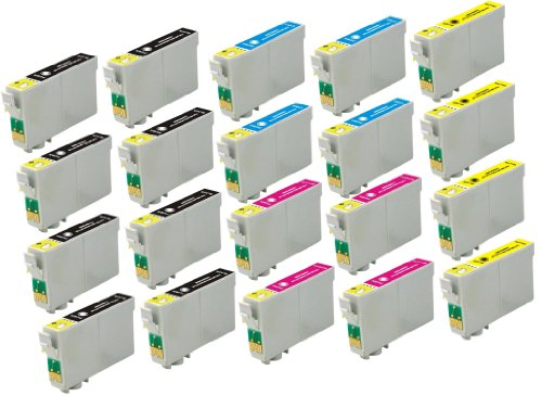 20 Pack Elite Supplies ® Remanufactured Inkjet Cartridge Replacement for #60 T060 T0601, Epson T060120 T060220 T060320 T060420 Works Epson Stylus C68, Stylus C88, Stylus C88Plus, Stylus CX3800, Stylus CX3810, Stylus CX4200, Stylus CX4800, Stylus CX5800F,