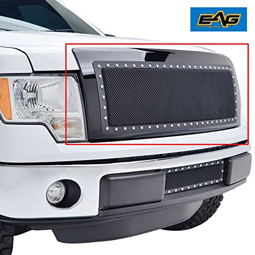 Black Grille Shell (EAG Rivet Stainless Steel Wire Mesh Grille With Shell for 2009-2014 Ford F-150)