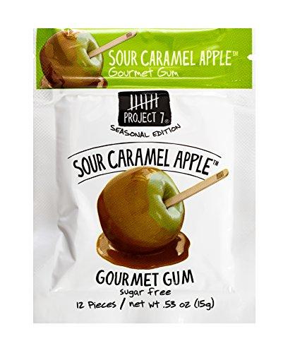 - Project 7 Sugar Free Gum, Sour Caramel Apple, 12 Pouches, 144 Pieces Total