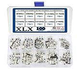 XLX 100 Pcs 10 Value DIP Quartz Crystal
