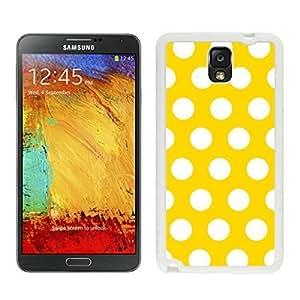 BINGO hot-sale Polka Dot Yellow and White Samsung Galaxy Note 3 Case White Cover