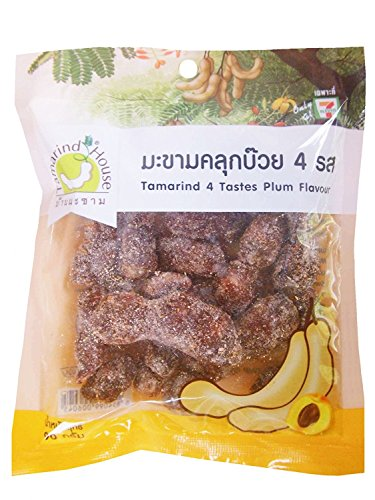 Tamarind Fruit Plum 90 G. Thai Snack Sweet Sour Salt Chili Spicy Tasty Delicious (Pack of 3) (As Tamarind Fruit compare prices)