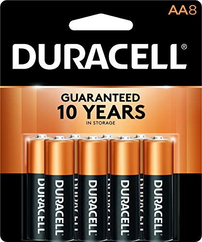 Duracell - CopperTop AA Alkaline Batteries - long lasting, all-purpose Double A battery for household and business - 8 count ()