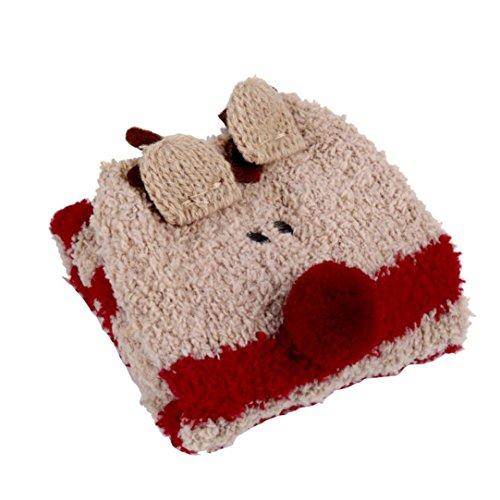 Paymenow Child Girls Cartoon Warm Fuzzy Fluffy Soft Cozy Home Holiday Casual Socks - Apparel Ccc