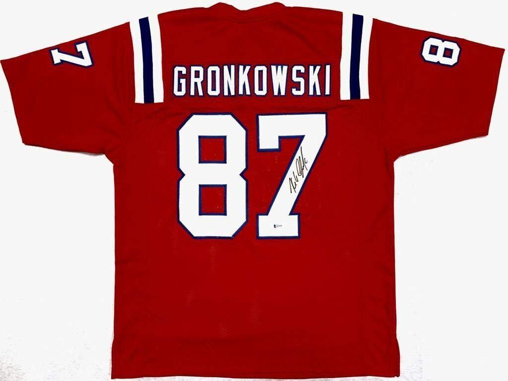 detailed look 60127 4dab1 Signed Rob Gronkowski Jersey - Red Beckett BAS - Beckett ...