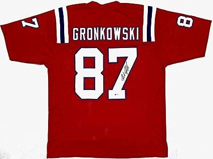 detailed look 03c39 681fb Signed Rob Gronkowski Jersey - Red Beckett BAS - Beckett ...