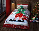 New Insta Selfie Elfie Christmas Fun Bedding Set/Duvet Cover Set His/Her Designer Quilt Cover Set (Single Elf (His))