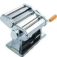 Máquina para hacer pasta Máquina de manivela - Cortador de rodillos Fabricantes de fideos Lo mejor para fideos caseros Espaguetis Pasta fresca Herramientas para hacer herramientas de enrollado - Accesorios de cocina de acero inoxidable Máquinas manuales