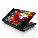 LSS 17 17.3 inch Laptop Notebook Skin Sticker Cover Art Decal Fits 16.5' 17' 17.3' 18.4' 19' HP Dell Apple Asus Acer Lenovo Asus Compaq (Free 2 Wrist Pad Included) Colorful Floral