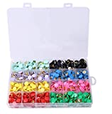 Tupalizy 8 Colors Steel Office Thumbtacks Drawing Pins Decorative Plastic Round Head Thumb Tacks, 10mm/0.39 inch Diameter, 960PCS
