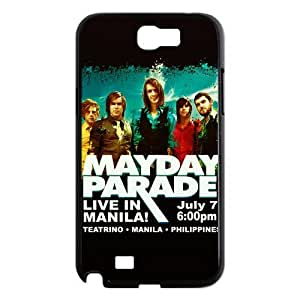 CTSLR Band Mayday Parade Protective Hard Case Cover Skin for Samsung Galaxy Note 2 N7100-1 Pack- 4