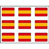 Artimagen Pegatina Bandera Rectángulo 9 uds. España Resina 16x11 mm/ud.: Amazon.es: Coche y moto