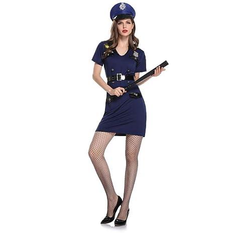 Z&X Sexy Policía Negro Policía Dama Mujer Disfraz Juego De ...
