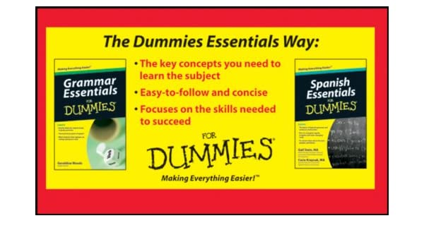 Amazon Com Grammar And Spanish Essentials For Dummies Bundle