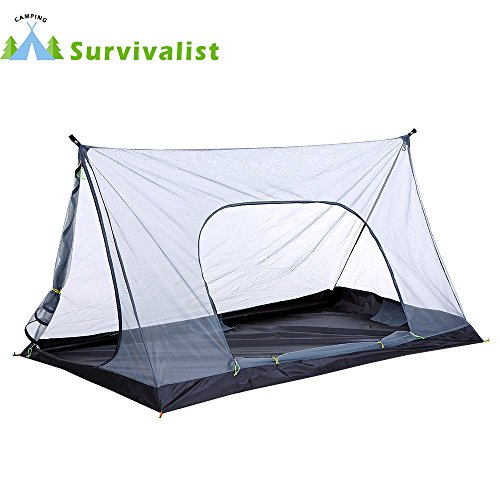Survivalist Ultralight 1-2 Person Mesh Tent Shelter for Camp