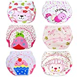 HaimoBurg 6 Pack Baby Toddler Potty Training Pants Reusable Washable Underwears Diapers: more info