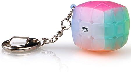 QiYi LEVEL25 Llavero 3x3x3 Velocidad Colores Jelly. Cubo 3x3 mágico Cube Puzzle Regalo Original