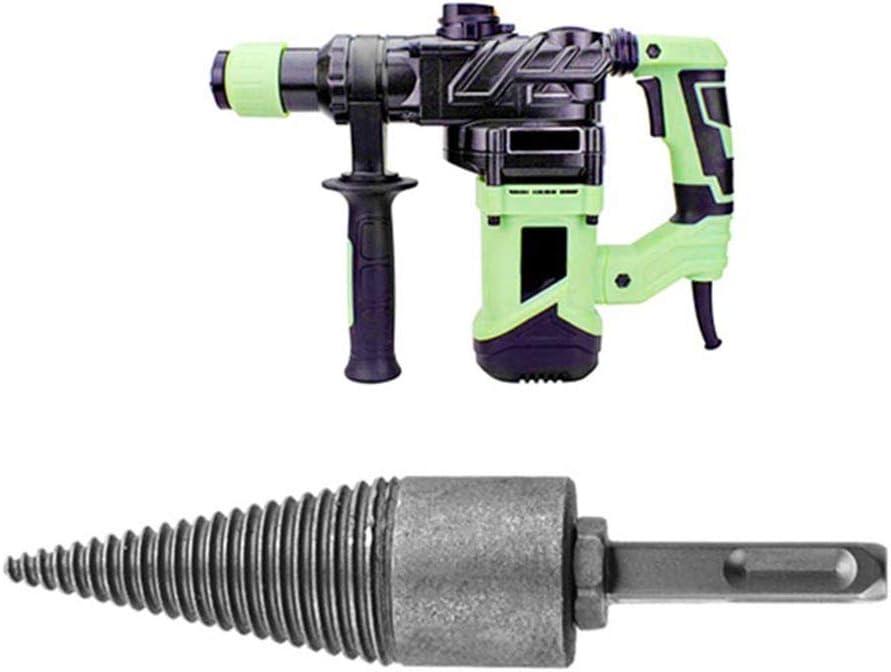 DOITOOL 1Pc 38MM Firewood Drill Bit Log Splitter Wood Splitter Screw Cone Household Triangle Handle Wood Splitting Drill Bits