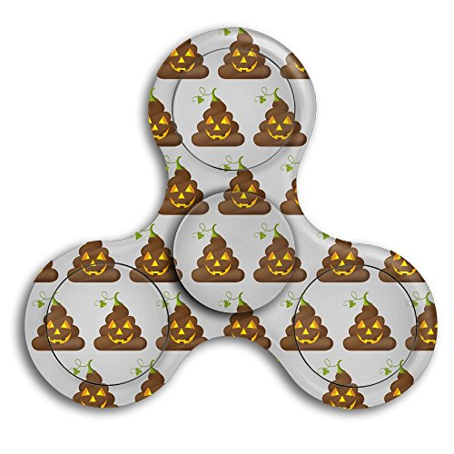 Halloween Poop Emojis Adults & Children High Speed Tri-Spinner Hands Spinner Fidgets Fingertip Finger Toy Bearing (Halloween Full Page Coloring Pages)