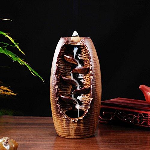 Smoke Backflow Incense Burner Ceramic Censer Smell Removing Aroma Furnace For living room