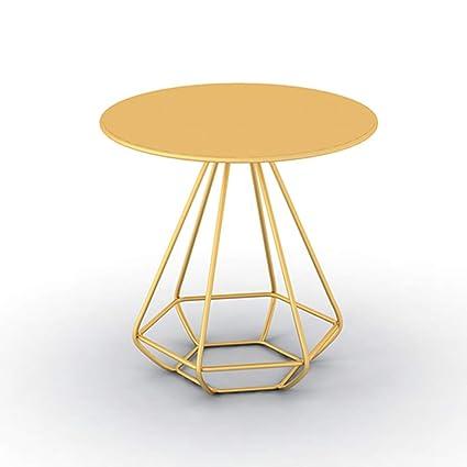 Tavolino Da Salotto Oro.Yanfei Tavolino Rotondo Rotondo Moda Tavolino Da Caffe