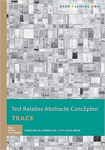 Test Relaties Abstracte ConcEpten TRACE: Handleiding: Amazon ...