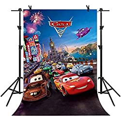 MME Backdrop 5X7ft Disneyland Background Car Story Cartoon Car Photography Seamless Vinyl Photo Studio Props GEME504