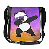 Hip Hop Panda Glasses Fashion Print Diagonal Single Shoulder Bag