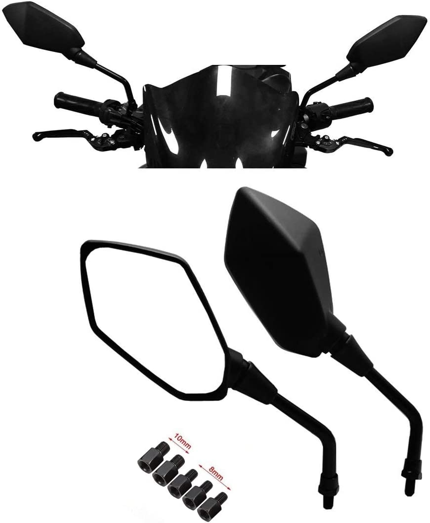 Bike It Motorbike Motorcycle Universal Mirrors 10Mm Aero Black Pair