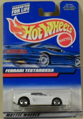 2000 Ferrari - Hot Wheels 2000-136 White FERRARI TESTAROSSA 1:64 Scale