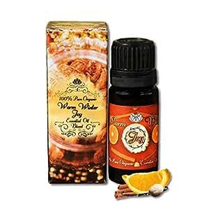 Essens Oils 10ml Warm Winter Joy Holiday Spirit Essential Oil 100% Pure Therapeutic Grade Nutmeg, Sweet Orange, Cinnamon, and Vanilla Blend