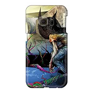 Scratch Resistant Hard Cell-phone Case For Samsung Galaxy S6 With Allow Personal Design Beautiful In Flames Band Skin JasonPelletier