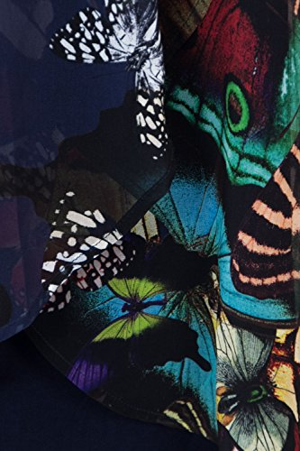 Kurzes Butterfly 18WWVWA5 Desigual Blue Kleid Damen Vest zwwpHq